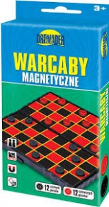 DROMADER 00576 Gra Warcaby magnetyczne mini